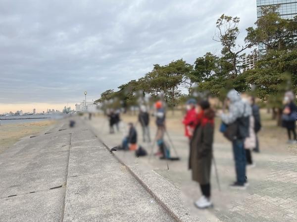千葉ポートタワー前のカメラマン勢