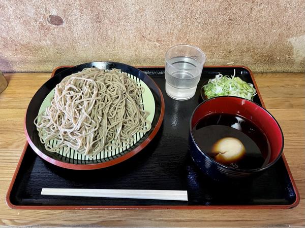 ダッタン蕎麦【並盛350g】(500円)+ネギ汁変更【温】(100円)