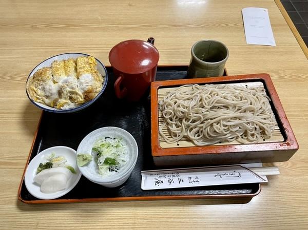 ミニカツ丼セット【冷たいそば】(980円)