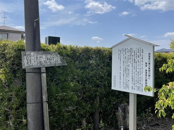 養父関素寿碑と君塚家の墓道標