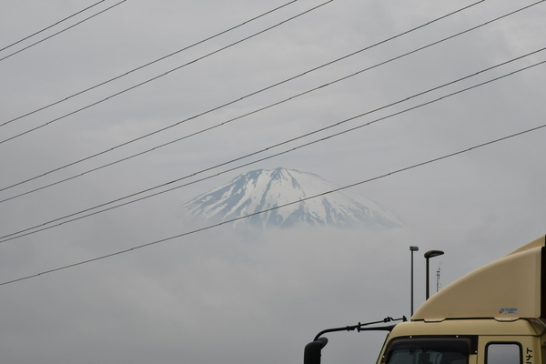 一瞬だけ見えた富士山