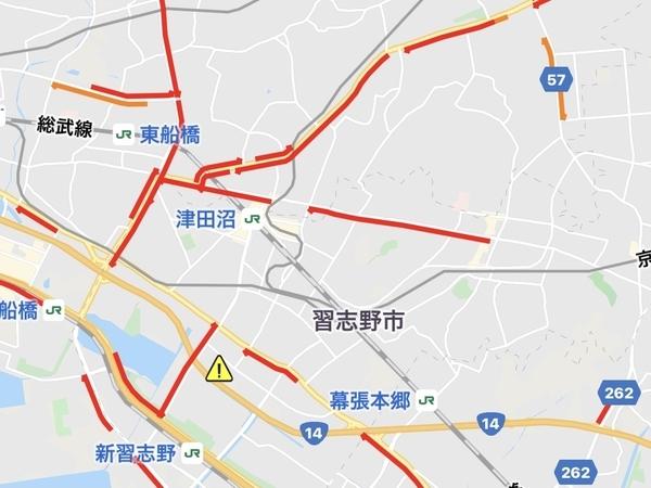 渋滞マップ