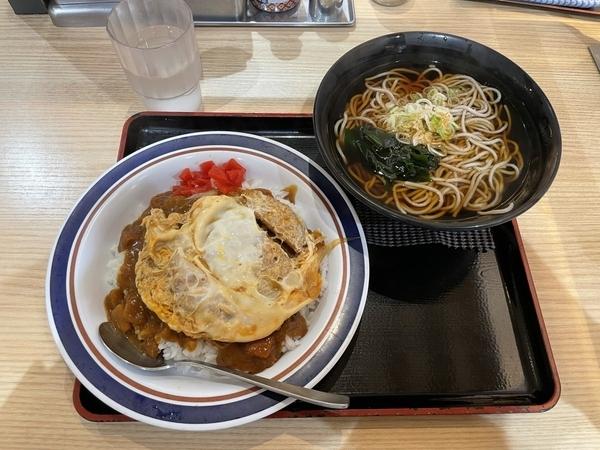 カレーかつ丼セット【かけそば】(790円)
