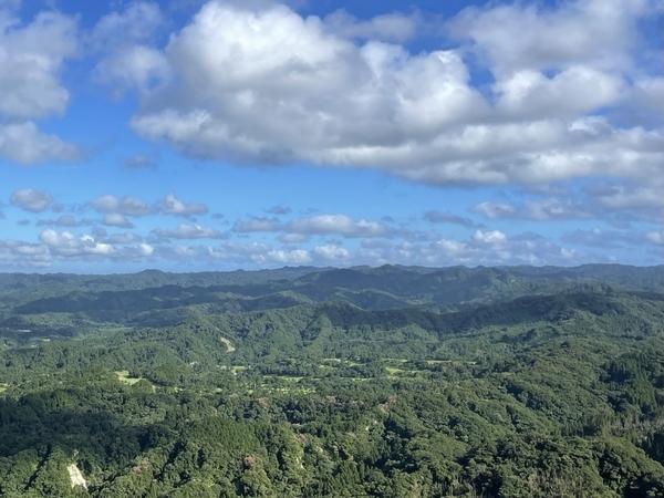 鹿野山九十九谷展望公園からの眺め
