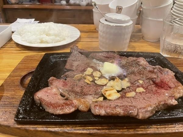 400gのステーキ