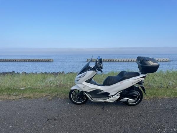 白老の海とPCX150
