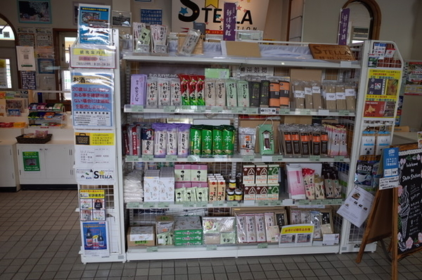 新得駅の蕎麦コーナー