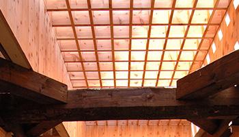 露天風呂の天井