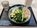 冷し薬味そば(580円)+三陸わかめ(100円)