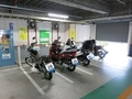 越谷駅東口駐車場のバイク置き場
