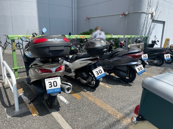 アビイクオーレの駐輪場