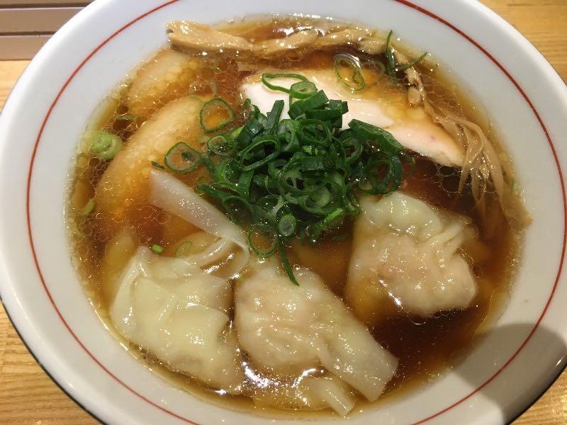 海老ワンタン醤油そば+チャーシュー