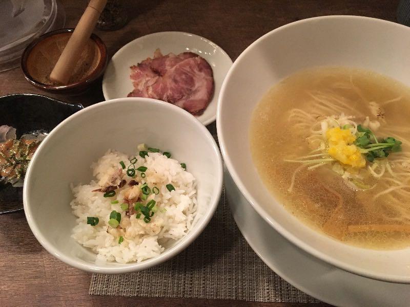 鯛茶漬けセット(鯛塩そば(淡麗)+ミニ茶漬け)
