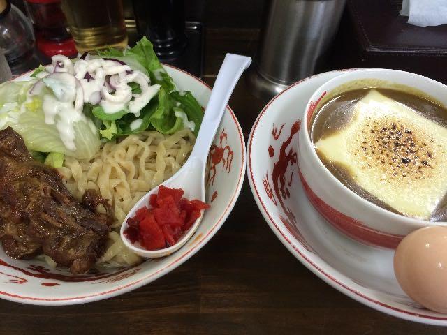 チーズ in 濃厚豚骨カレーつけ麺