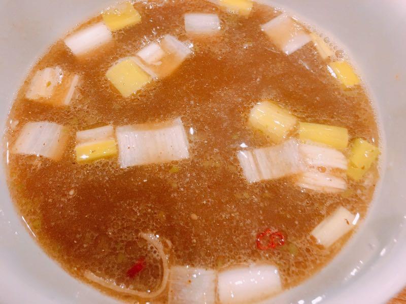 スープ割後のつけ汁