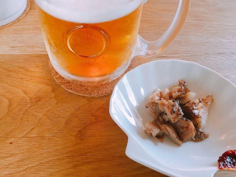 生ビール+おつまみ