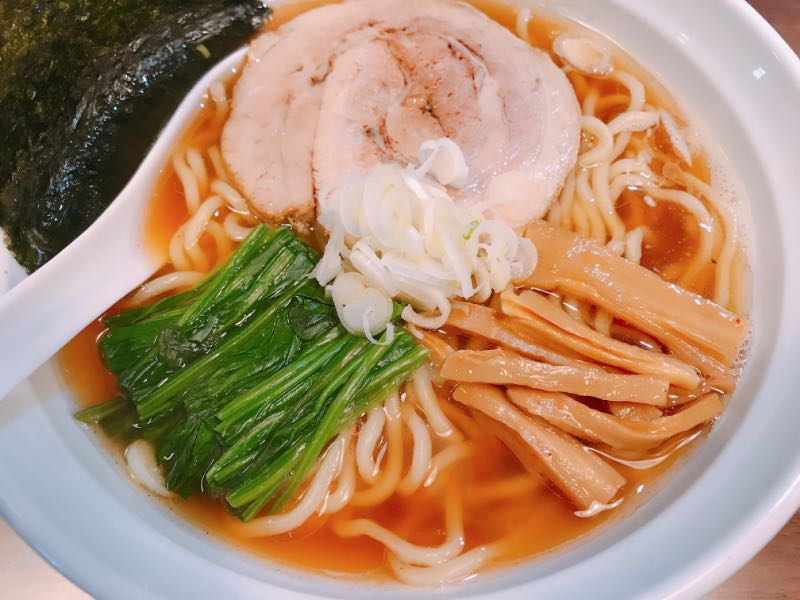 鯖節そば(太麺・しょうゆ)