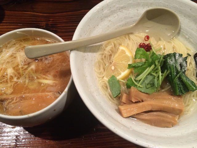 水出し昆布のつけ麺(味噌)