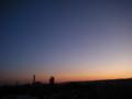 マジックアワー(夕焼けと三日月) 私の好きな写真
