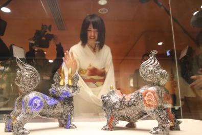 自身の作品「狛犬」との再会@イギリス大英博物館
