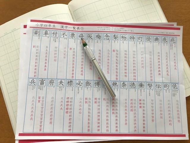 小学4年生漢字の勉強