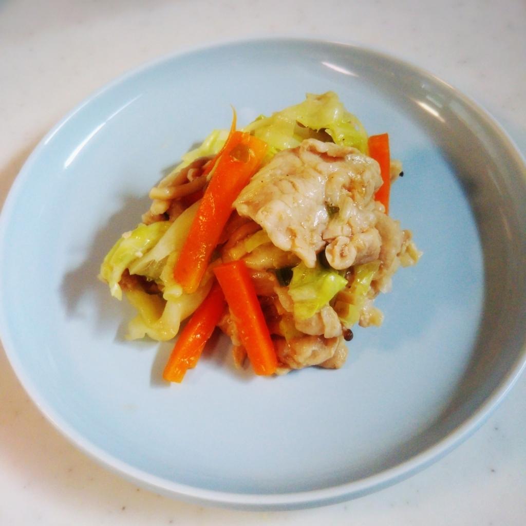 電子レンジで肉野菜炒め