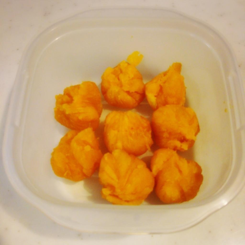 お弁当作り置き:かぼちゃ茶巾