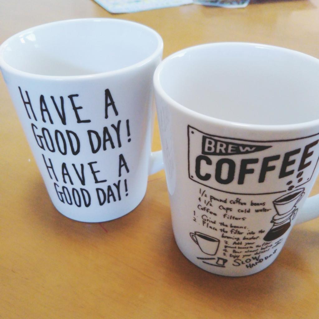 セリアのカフェ風マグカップ