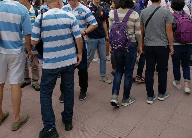 ラグビーワールドカップの混雑状況