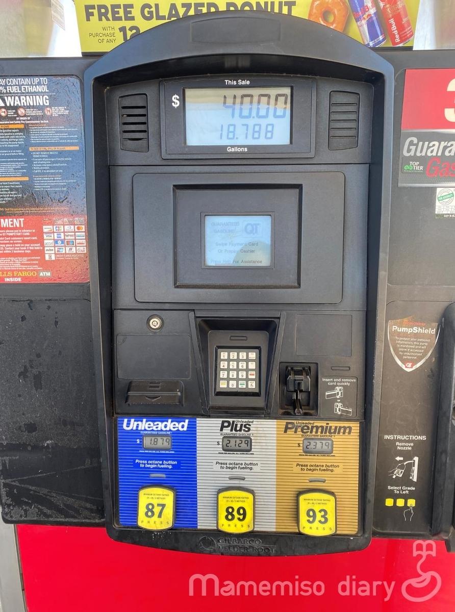ガソリンスタンドマシーンのパネル