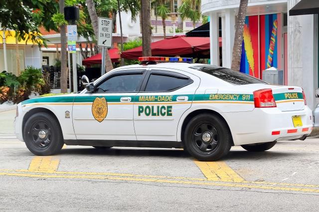 マイアミのパトカー