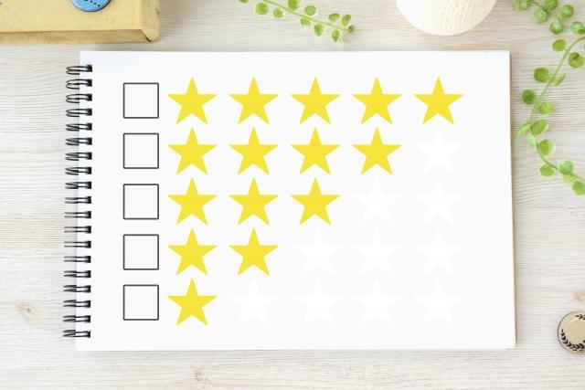評価の星印