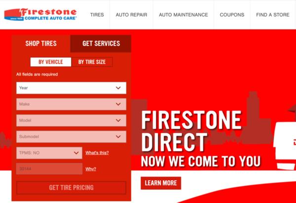 firestoneウェブサイト