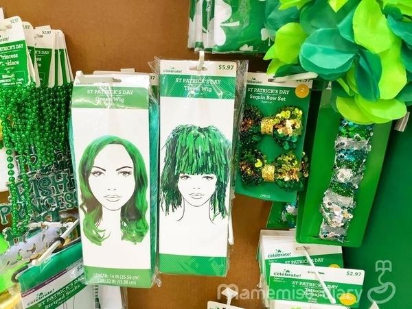 緑色のかつら