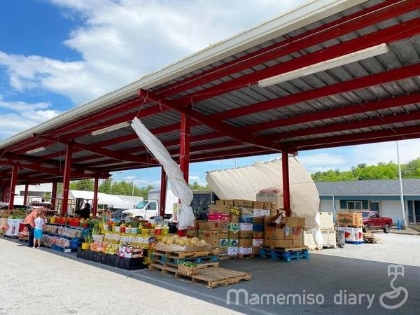 屋外のマーケット