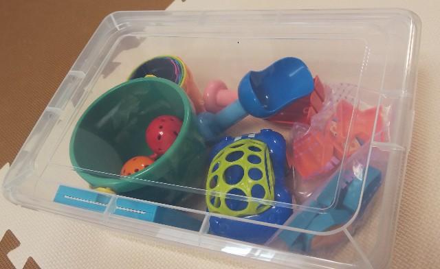 大きめのシューズケースはおもちゃいれに最適