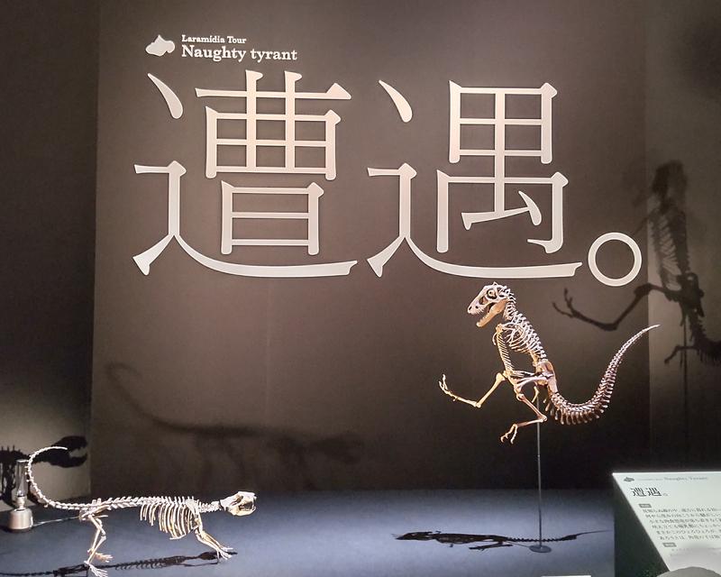 飛び跳ねるティラノサウルスの幼体
