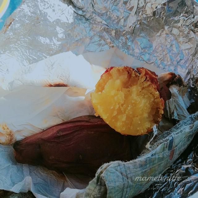 焼けたサツマイモの断面