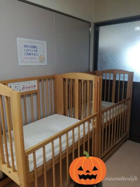 吉田ふれあい広場のおむつ替えベッド