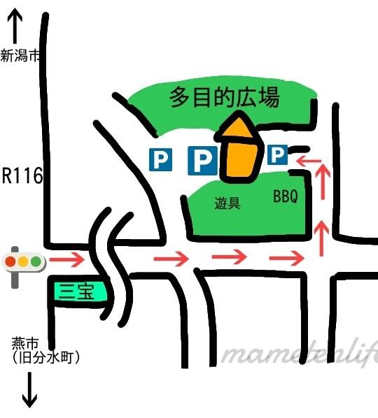 吉田ふれあい広場の駐車場地図
