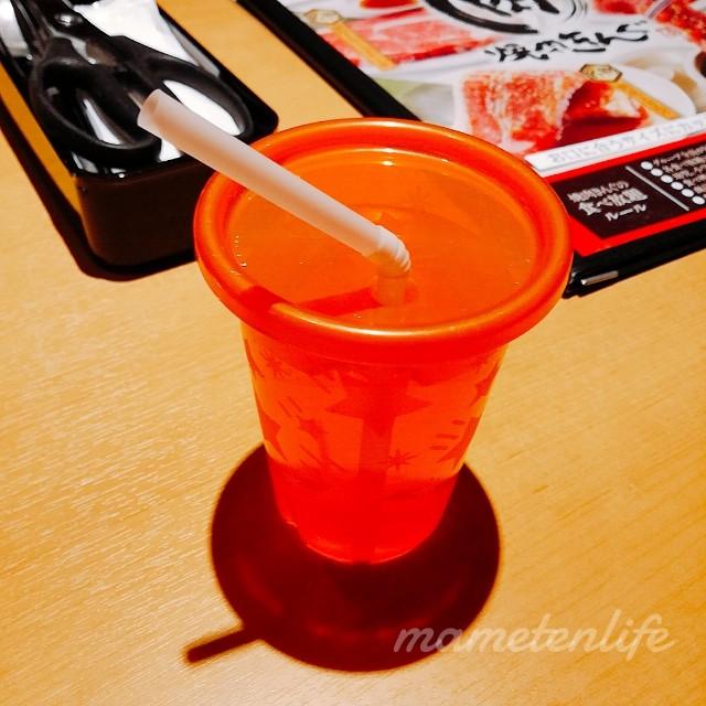 焼肉キング新潟小新店の子ども用お水
