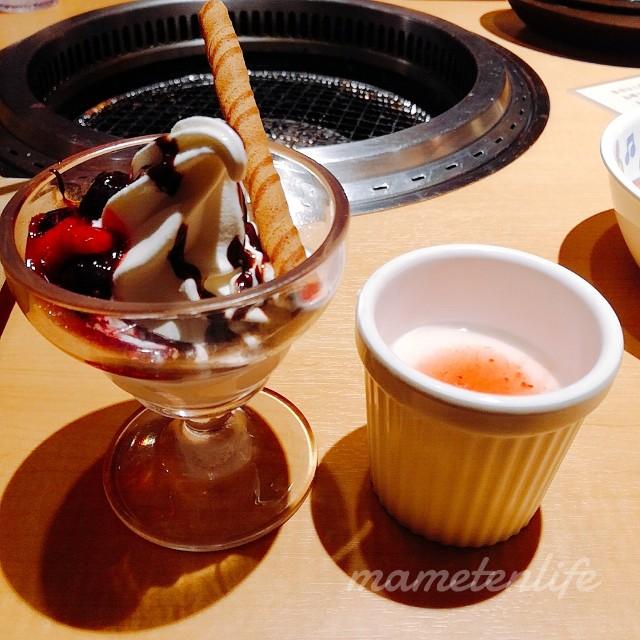 ミニパフェと杏仁豆腐
