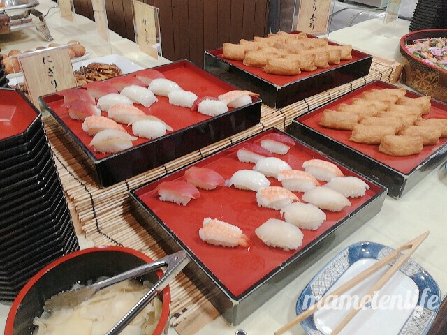 新潟ふるさと村番屋亭ランチバイキングのお寿司