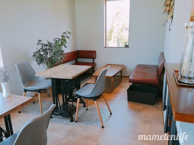 タイボウコーヒージェラートソフトのテーブル・ソファ席