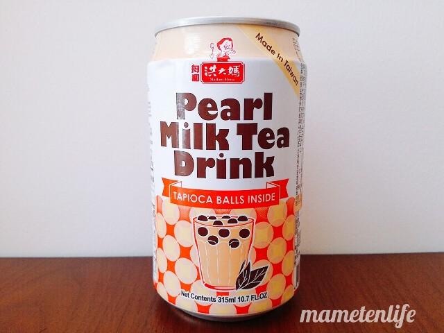 タピオカミルクティー缶(台湾洪大媽珍珠奶茶飲料)の英語