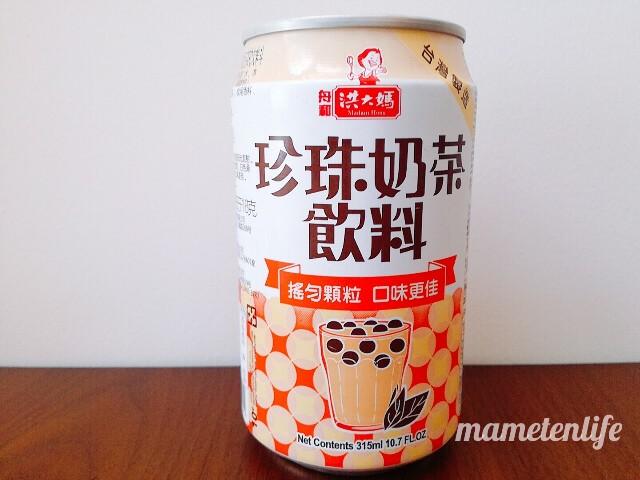 タピオカミルクティー缶の商品名中国語表記