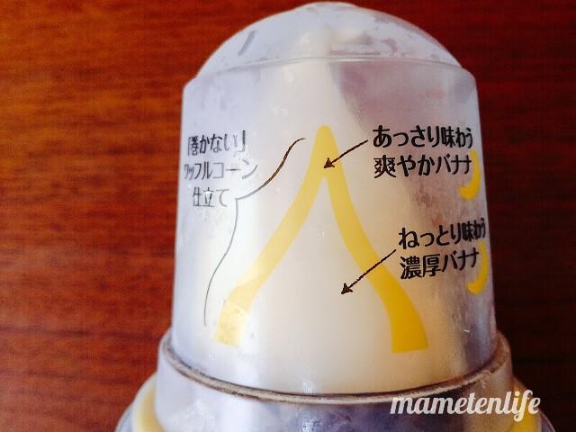 ローソンバナナワッフルコーンのアイスの説明