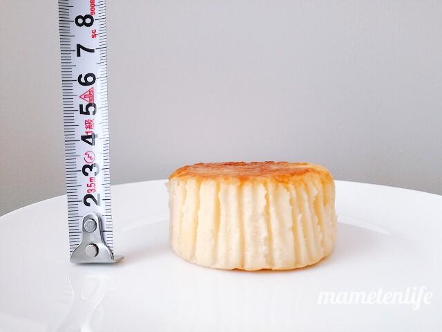 ローソンバスチー‐バスク風チーズケーキ‐の高さを測ったところ