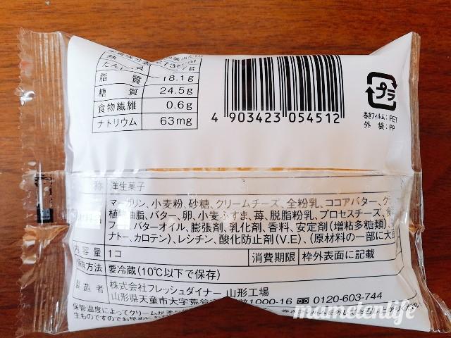 ローソンサクバタベリチーズの原材料名など