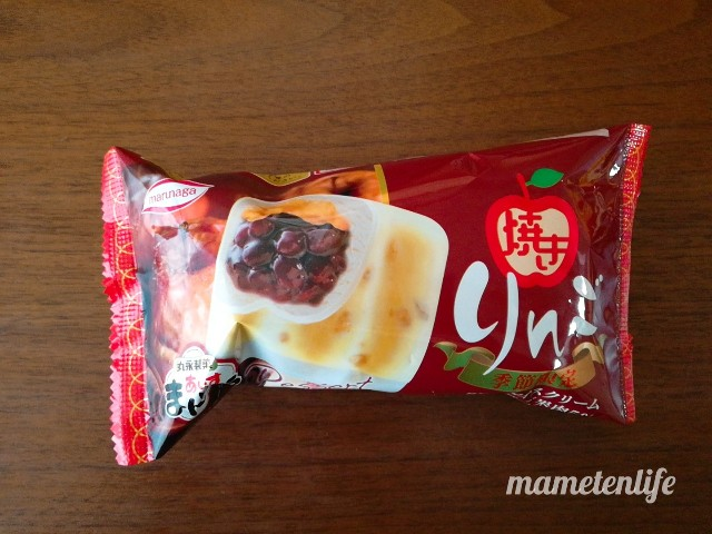 丸永製菓あいすまんじゅう焼きりんごのパッケージ